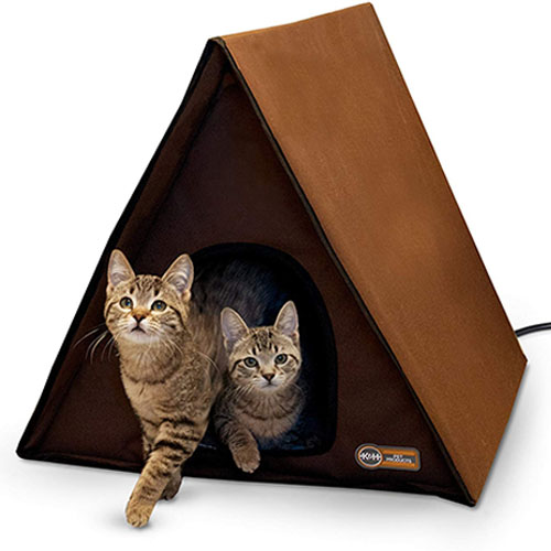 K&H Pet Products Outdoor Multi-Kitty A-Frame Heated Cat Bed