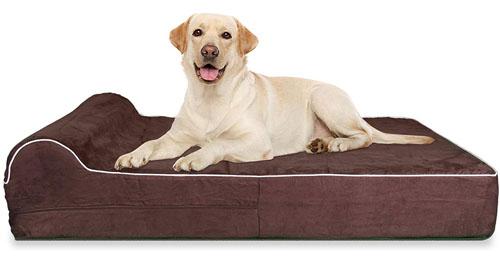 KOPEKS 7-Inch Thick High-Grade Orthopedic Memory Foam Dog Bed