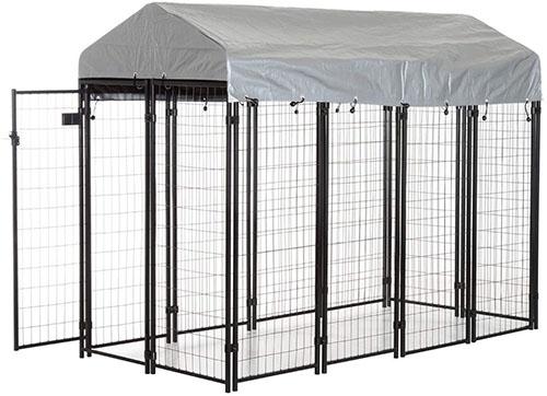 PawHut 50 97 Outdoor Galvanized Metal Dog Kennel