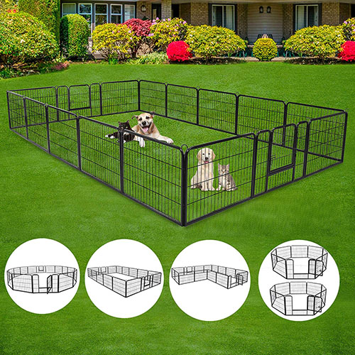 ZENY Foldable Metal Exercise Kennel