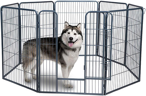 Paws & Pals Pet Heavy-Duty Folding Metal Outdoor Kennel