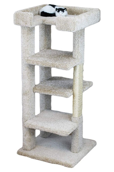 New-Cat-Condos-70-Inch Solid Wood Cat Tower
