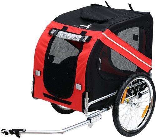 Aosom Elite Dog Bike Trailer w/ Type 'A' Hitch