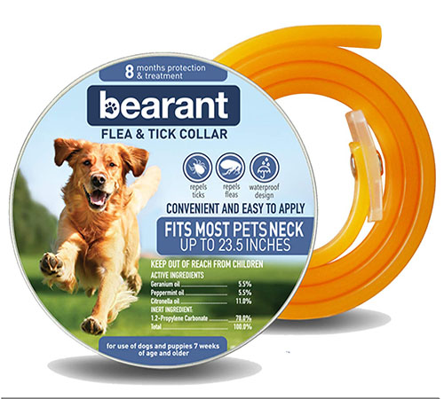 Bearant Flea and Tick Collar for Dogs and Puppies