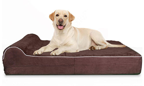 KOPEKS 7-Inch High-Grade Orthopedic Memory Foam Bed with Headrest