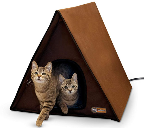 K&H Pet Products Outdoor Multi-Kitty A-Frame House