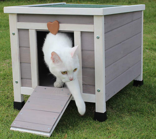 ROCKEVER Wooden Cat House