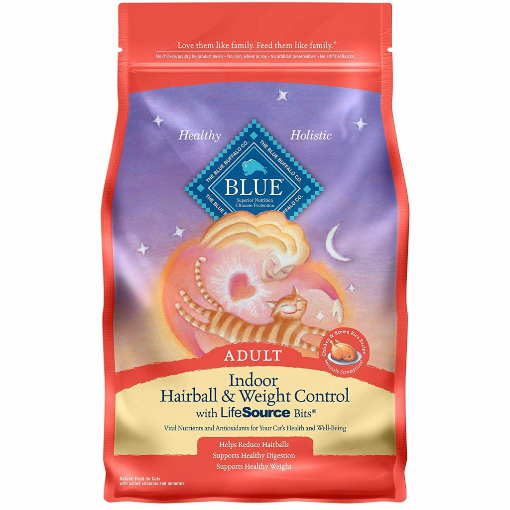 Blue Buffalo Indoor Hairball & Weight Control Natural Adult Dry Cat