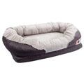 BarksBar Snuggly Sleeper with Grooved Orthopedic Foam