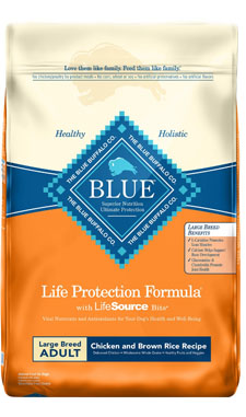 Blue Buffalo Life Protection Adult Formula Chicken & Brown Recipe for Large Canine Breeds