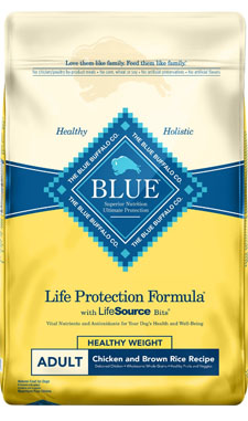 Blue Buffalo Life Protection Adult Formula Healthy Weight Chicken & Brown Rice Recipe for Small Breeds