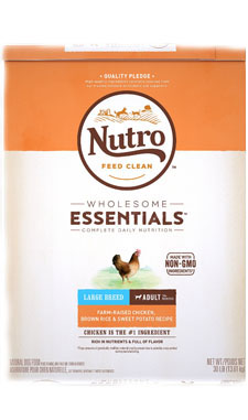 Nutro Wholesome Essentials Chicken, Brown Rice, & Sweet Potato Recipe for Large Adult Breeds