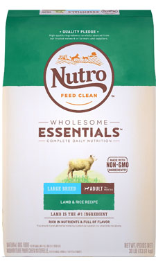 Nutro Wholesome Essentials Lamb & Rice Recipe for Large Adult Breeds