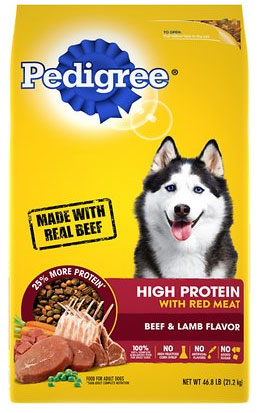 Pedigree High-Protein Dry Dog Food, Beef & Lamb