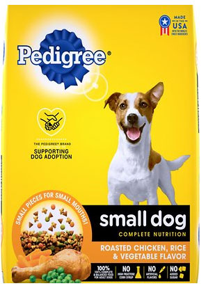 Pedigree Complete Nutrition for Small Dogs, Chicken, Rice, & Vegetables