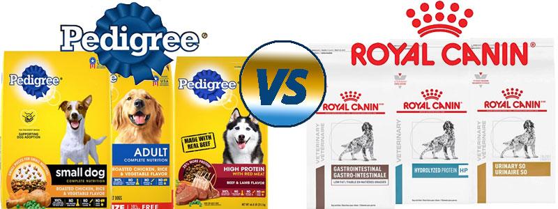 Royal Canin vs. Pedigree